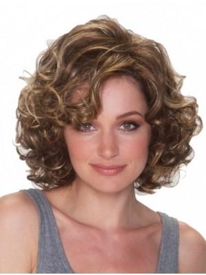10 Chin Länge Curly Top synthetische Perücken