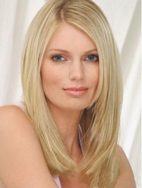 Menschliches Haar gerade Spitze-Front-Perücke